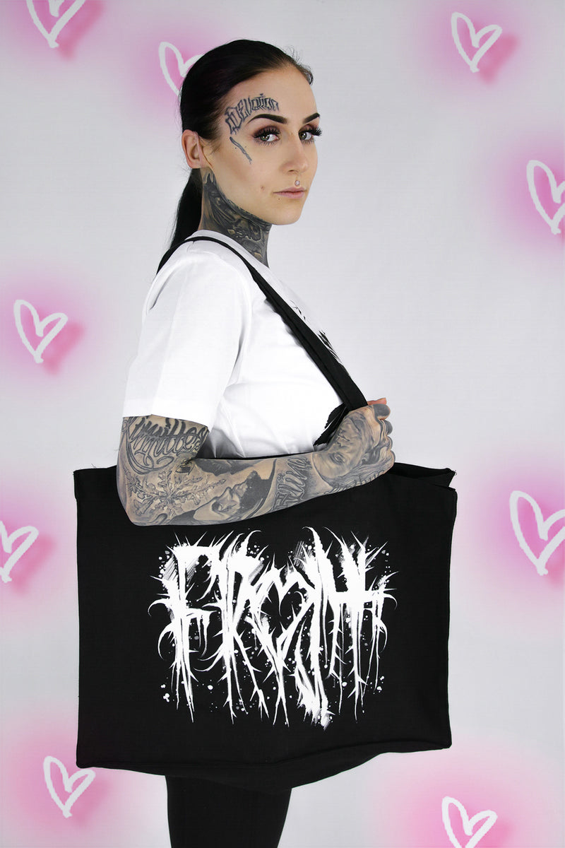 THORNS LARGE SHOPPER BAG BLACK