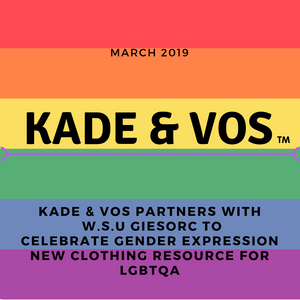 Kade & Vos Partners with Washington State University's GIESORC to Celebrate Gender Expression - New clothing resource for LGBTQA