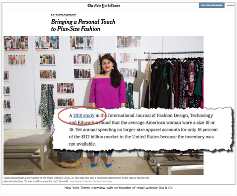 New York Times: Bringing a Personal Touch to Plus-Size Fashion