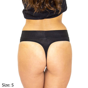 Size S Signature Thong Supima Cotton wicking moisture management comfortable