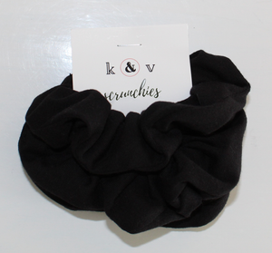 Hair Scrunchies - 3 Pack (Black Organic Cotton)