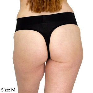 Size M Signature Thong Supima Cotton wicking moisture management comfortable yoga panties underwear