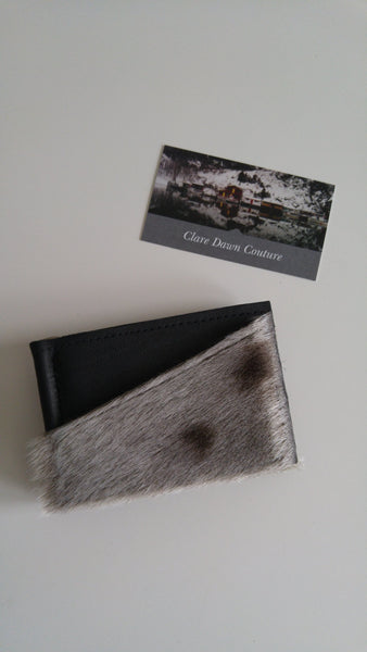 Seal skin and seal leather bill fold