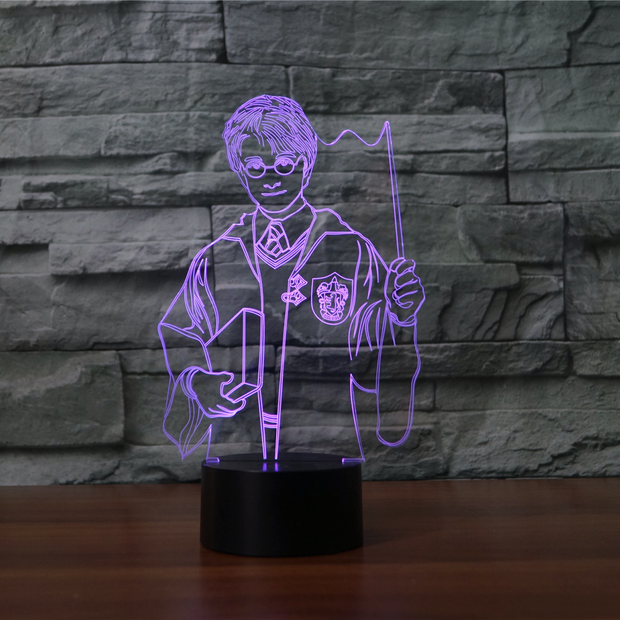Lampe 3D Harry Potter