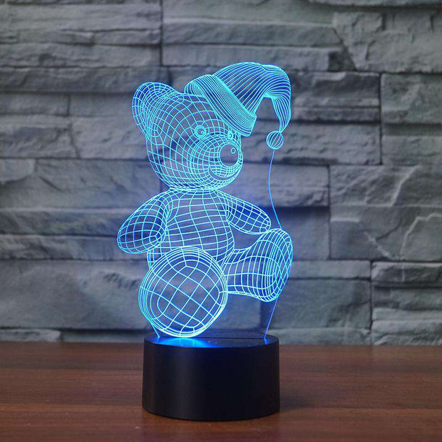 Lampe 3D Ourson | Lampe LED Ourson | Lumineez
