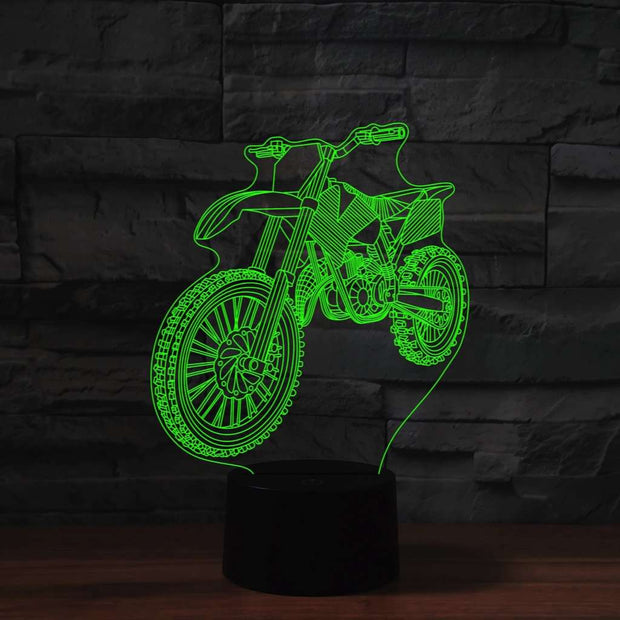 Lampe 3D Motocross | Lampe LED Motocross | Lumineez