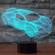 Lampe 3D Supercar | Lampe LED Supercar | Lumineez