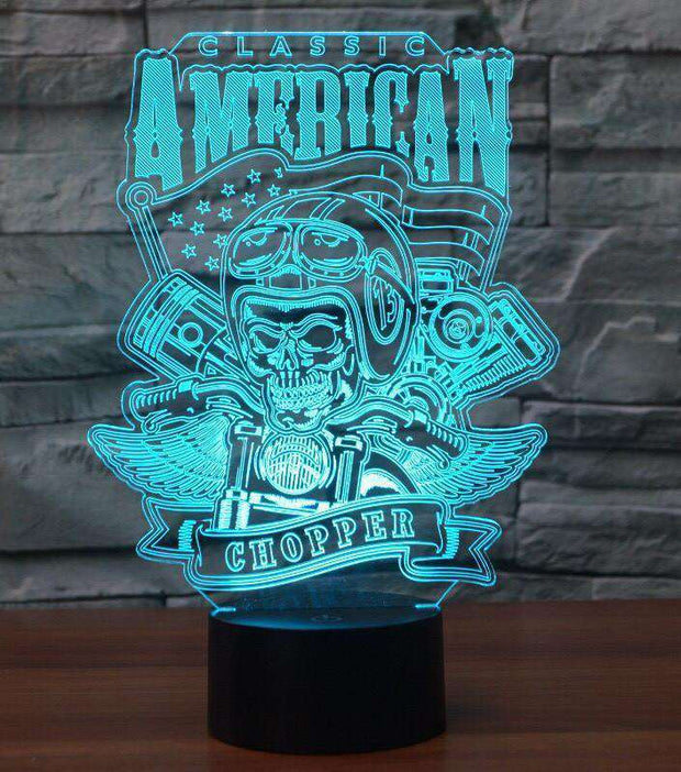 Lampe 3D - American Chopper-Lampe 3D-LUMINEEZ-LUMINEEZ