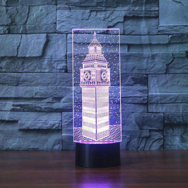 Lampe 3D - Big Ben-Lampe 3D-LUMINEEZ-LUMINEEZ