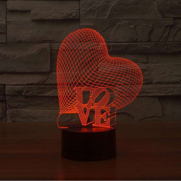 Lampe 3D - Big Love-Lampe 3D - Big Love-LUMINEEZ-LUMINEEZ
