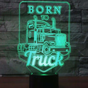 Lampe 3D - Born to Truck-Lampe 3D-LUMINEEZ-LUMINEEZ