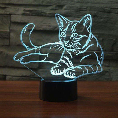 Lampe 3D - Chat-Lampe 3D - Chat-LUMINEEZ-LUMINEEZ