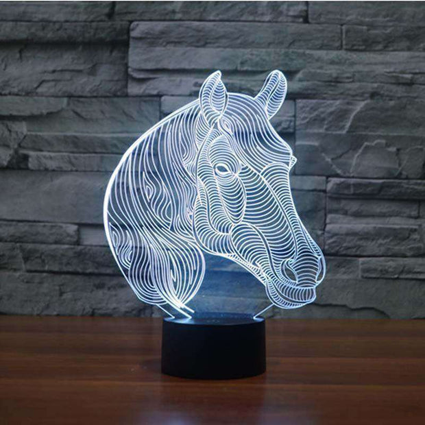 Lampe 3D - Cheval Affectueux-Lampe 3D - Cheval affectueux-LUMINEEZ-LUMINEEZ