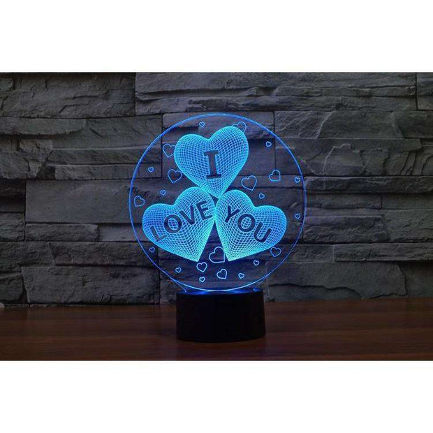 Lampe 3D - I Love You-Lampe 3D - I love you-LUMINEEZ-LUMINEEZ