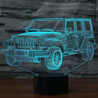 Lampe 3D - Jeep-Lampe 3D-LUMINEEZ-LUMINEEZ