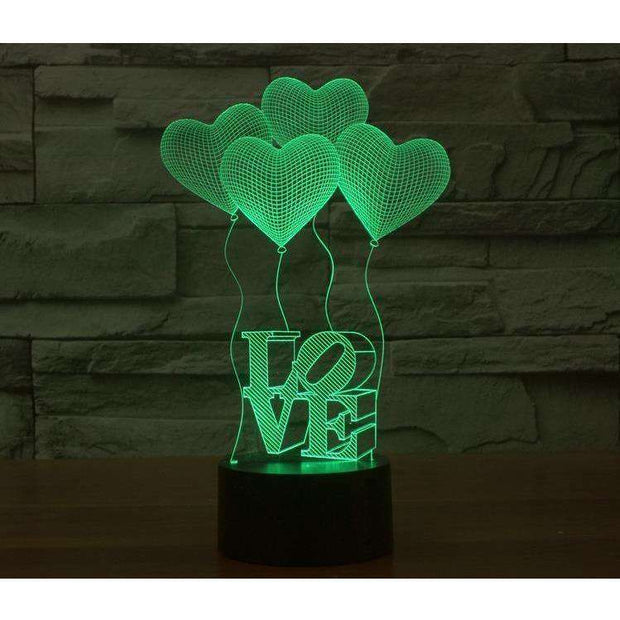 Lampe 3D - Love-Lampe 3D - Love-LUMINEEZ-LUMINEEZ