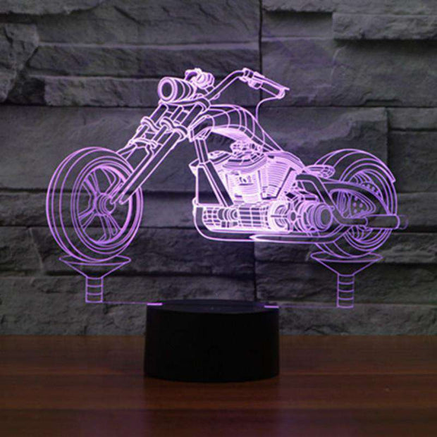 Lampe 3D - Moto Rock'n Roll-Lampe 3D - Moto Rock 1-LUMINEEZ-LUMINEEZ