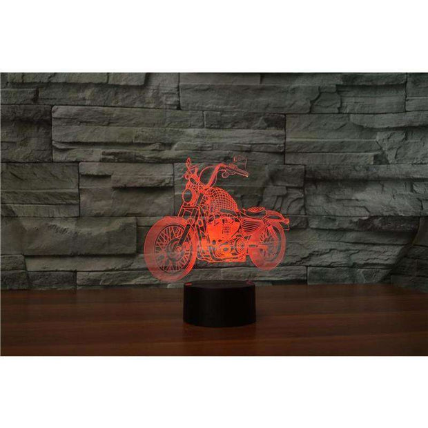 Lampe 3D - Moto Rock'n Roll-Lampe 3D - Moto Rock 2-LUMINEEZ-LUMINEEZ