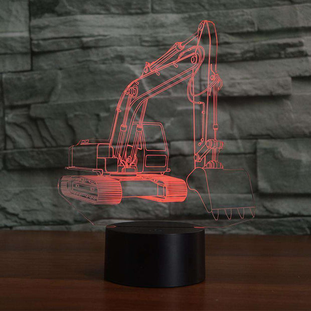Lampe 3D - Pelle Mécanique-Lampe 3D-LUMINEEZ-LUMINEEZ