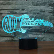 Lampe 3D - Rock Forever-Lampe 3D-LUMINEEZ-LUMINEEZ