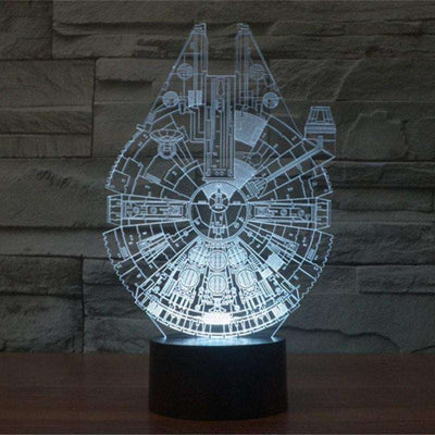 Lampe 3D - Science Fiction-Lampe 3D - Etoile de la mort-LUMINEEZ-LUMINEEZ
