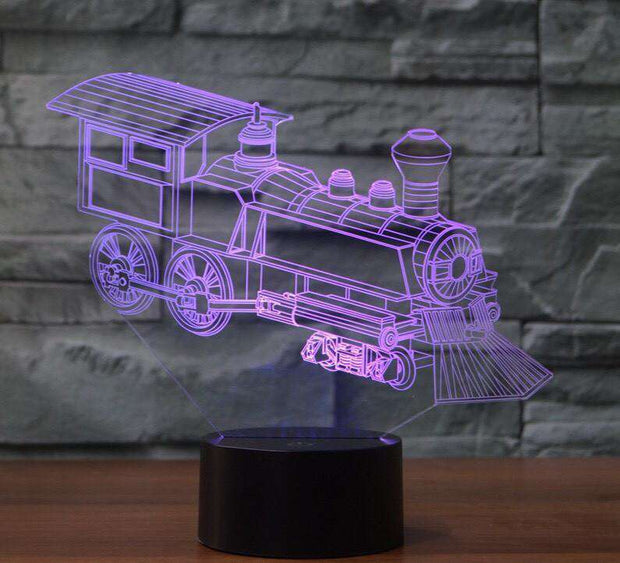Lampe 3D - Train locomotive-Lampe 3D-LUMINEEZ-LUMINEEZ