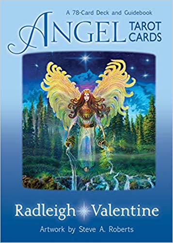 Angle Tarot Cards Oracle Cards by Doreen Virtue and Radleigh Valentine angel cards and book