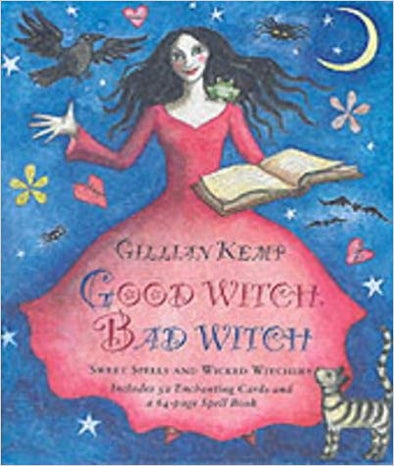 Good Witch Bad Witch Oracle Cards by Gillian Kemp vintage tarot cards and book