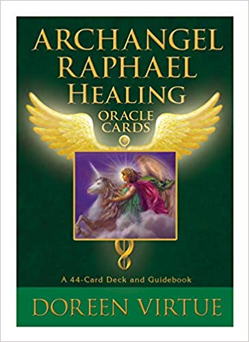 Archangel Raphael Oracle Cards by Doreen Virtue angel cards and book