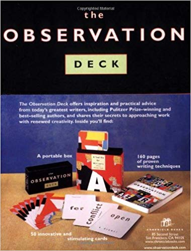 Vintage 1998 Book The Observation Deck Tool Kit for Writers How to Books writers gifts reference book writers block book with cards