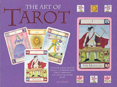 The Art of Tarot 78 Card Deck and Book Set Vintage 2001 Liz Dean