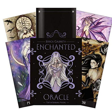 Enchanted Oracle cards deck and book gift set by Barbara Moore and Jessica Galbreth - Late Boomer Vintage