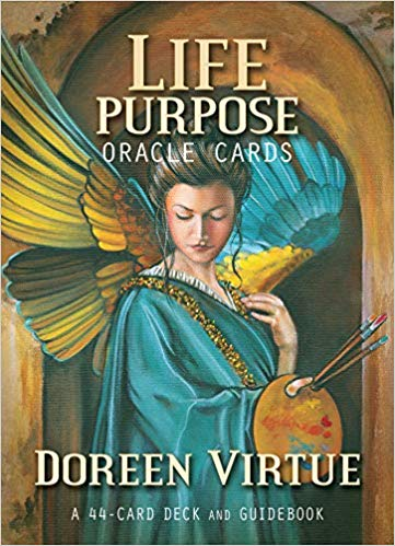Life Purpose Cards by Doreen Virtue 44 card deck and book