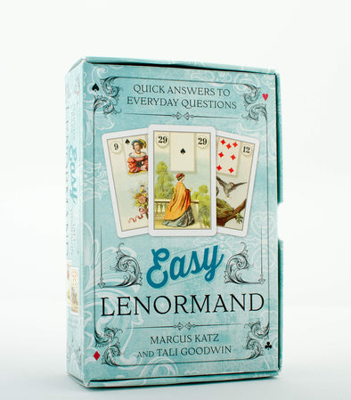 Easy Lenormand Quick Answers to Everyday Questions Cards and Book Set Llewellyn vtg 2015