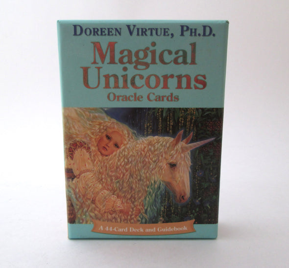 Magical Unicorns Oracle Cards by Doreen Virtue 44 card deck and book - Late Boomer Vintage
