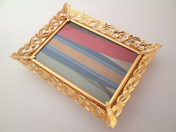 4x6 frame Vintage Frame Set of 3 frames ornate gold metal boho decor