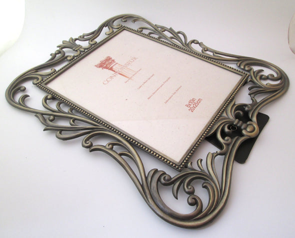 Vintage 8x10 picture frame Intercraft filigree photo frame - Late Boomer Vintage