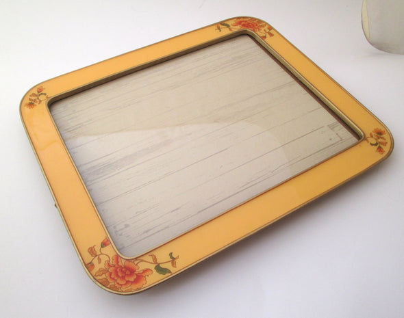 Vintage Bucklers 9x11 frame for 8x10 photos Yellow Enamel Frame boho decor - Late Boomer Vintage