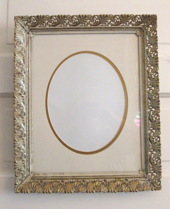Vintage 11x14 Wedding Frame Large Filigree Metal Picture Frame French Country boho decor - Late Boomer Vintage