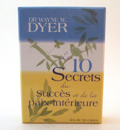 Wayne Dyer Cards 10 Secrets for Success and Inner Peace boxed set of 50 in French Francais
