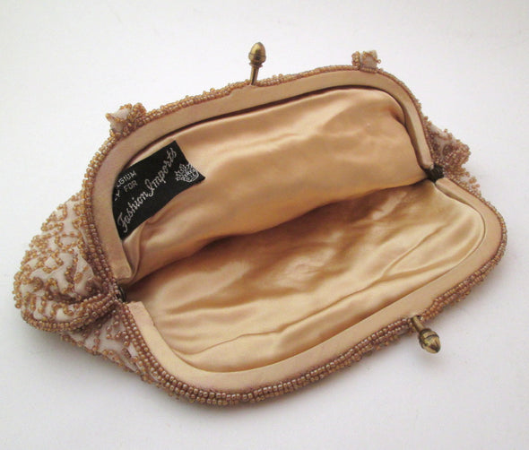 Vintage 1950s Gold Evening Bag European purse - Late Boomer Vintage