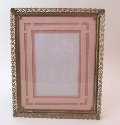 Ornate Vintage 8x10 photo frame filigree gold metal picture frame wedding table number