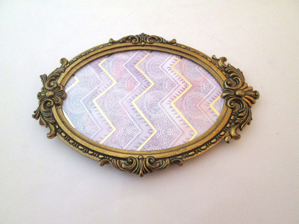 Vintage 5x7 Oval Brass Picture Frame made in Italy - Late Boomer Vintage