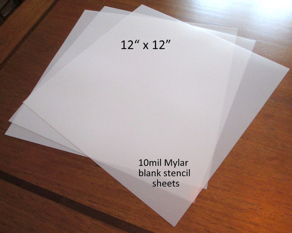 Blank Mylar Stencil Sheet for crafting, 12x12 blank frosted stencil sheet 10mil Mylar Blank Airbrush Stencil supply, DIY stencil - Late Boomer Vintage