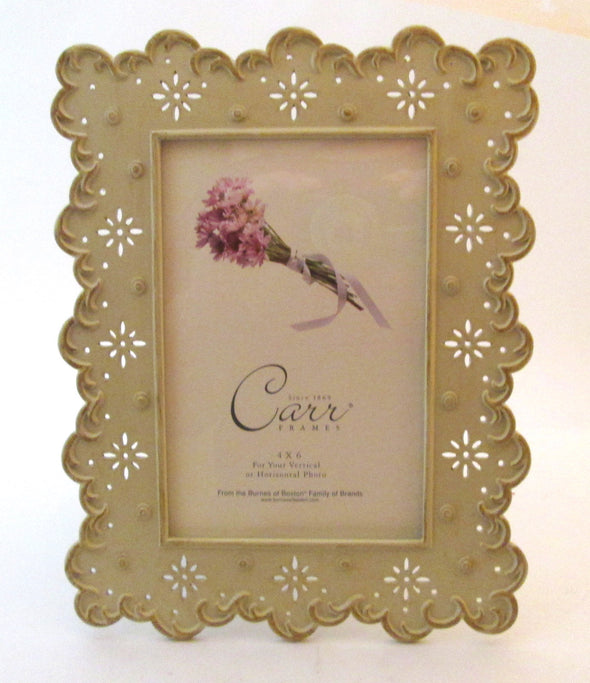 Vintage Carr Frame metal Picture Frame for 4x6 photos Burns of Boston - Late Boomer Vintage