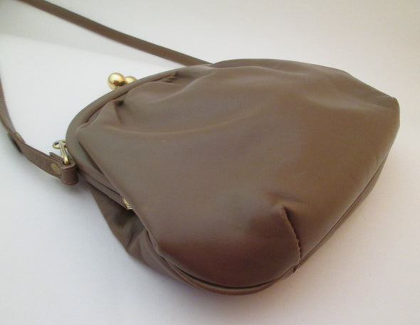 Vintage 1970s John Hort Shoulder Bag, Faux Leather Brown Bag office purse, made in Canada, vinyl bag - Late Boomer Vintage