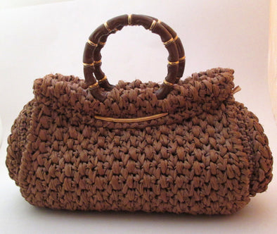 Vintage 1960s Rodo Bag Raffia Straw Handbag Purse, made in Italy - Late Boomer Vintage
