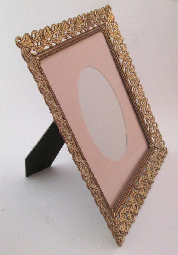 Vintage 10x12 Plastic Picture Frame 8x10 gold resin photo frame boho home decor