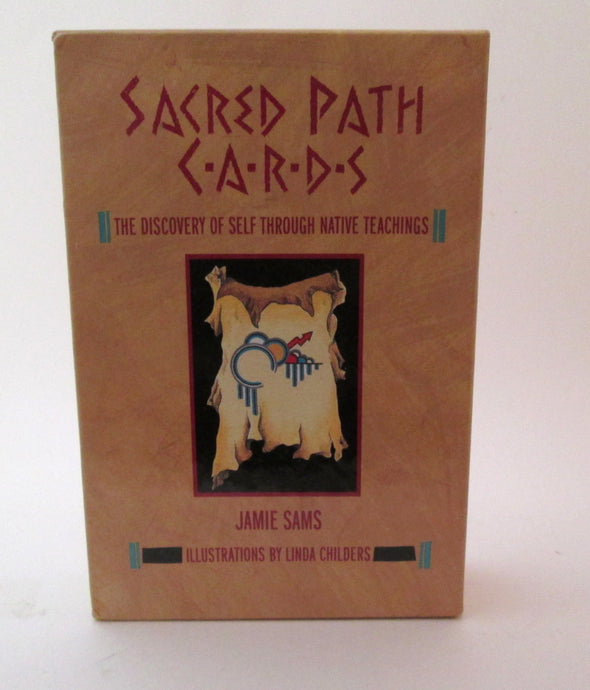 Sacred Path Cards and Book Set Vintage 1990 The Discovery of Self Through Native Teachings Jamie Sams - Late Boomer Vintage