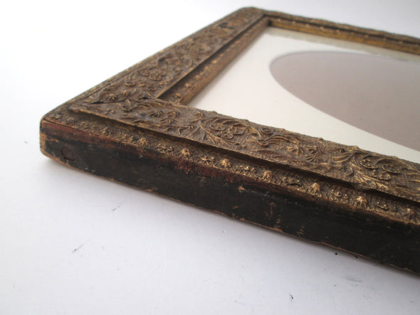 Vintage 13x15 Wood Gesso Frame for 10x12 photos 1940s wedding frame - Late Boomer Vintage